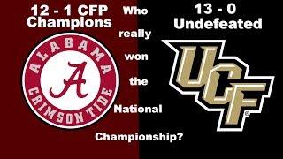 Who really won the National Championship? Alabama or UCF?