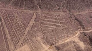 Flying Over The Palpa Lines And Geoglyphs Near Nazca Peru