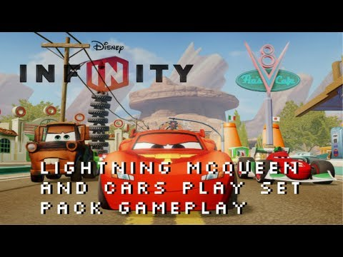 Disney Infinity Lightning McQueen Cars Play Set Pack Gameplay XBOX 360