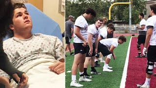 California Teen Who Suffered Brain Tumor Returns to Football Practice