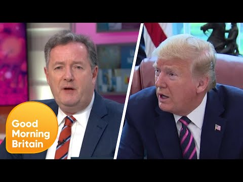 President Trump Unfollows Piers after Disinfectant Comments Criticism | Good Morning Britain