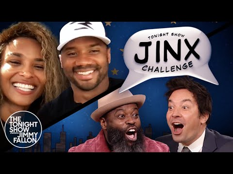 Jinx Challenge with Ciara and Russell Wilson | The Tonight Show Starring Jimmy Fallon
