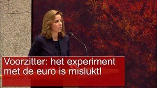 Marianne Thieme (PvdD) De euro heeft onze soevereiniteit ernstig aangetast, zeker sinds de crisis!