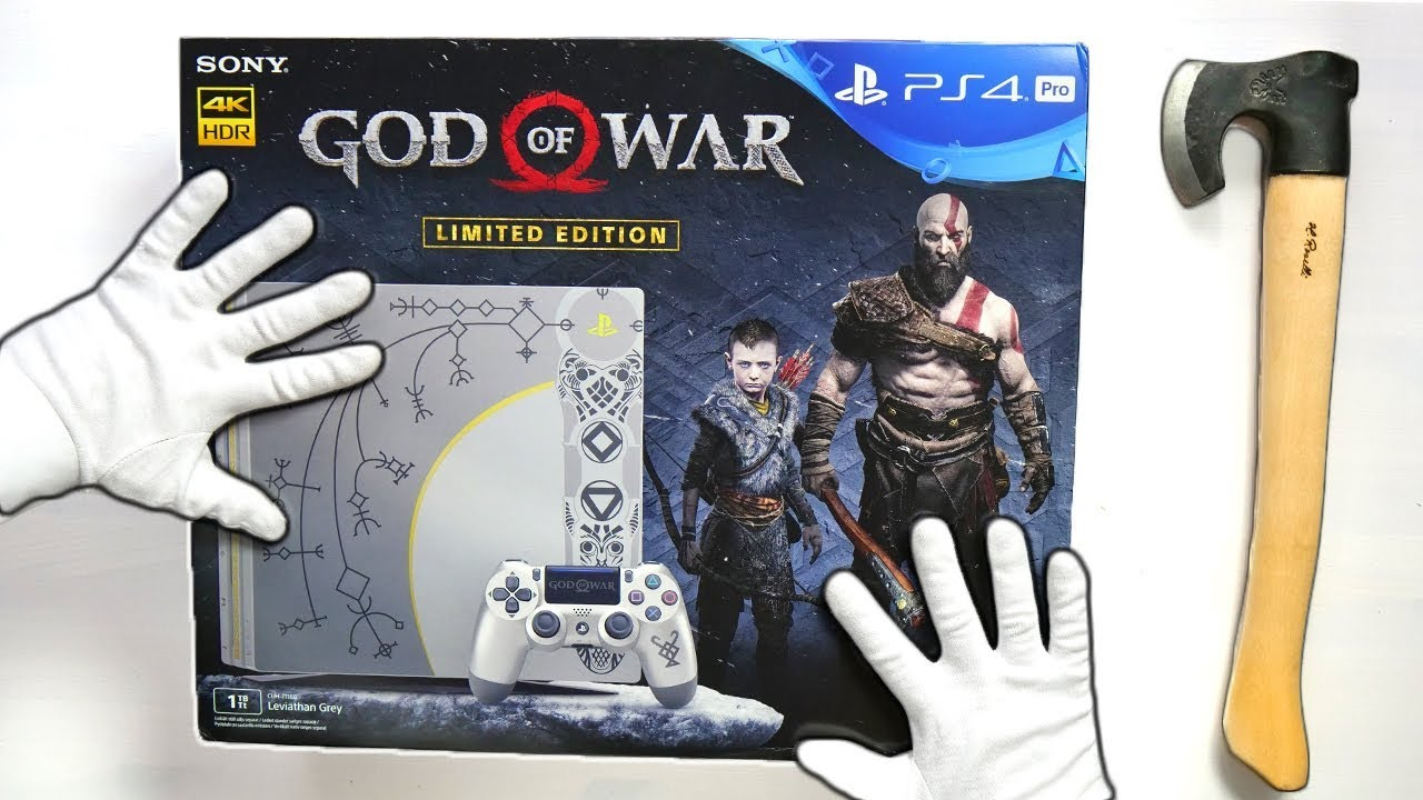 God Of War Ps4 Pro Limited Edition Unboxing Playstation 4 Console Gameplay