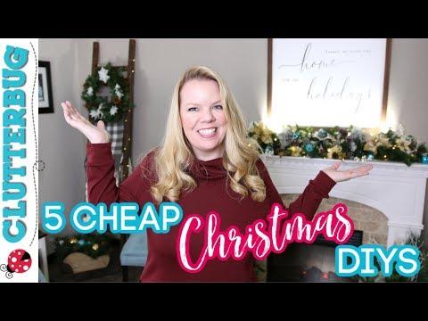 5 Cheap & Easy Christmas Decor DIY Ideas