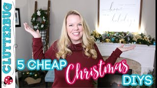 5 Cheap & Easy Christmas Decor Diy Ideas