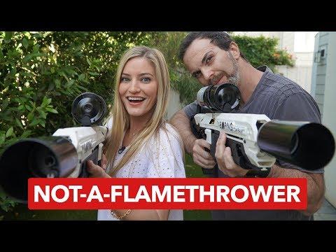 Elon Musk's Flamethrower — Unboxing with iJustine [4K]