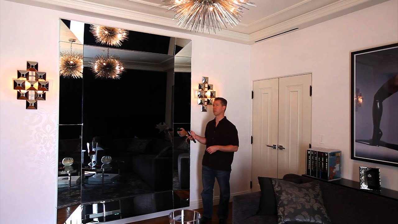 hidden technology how to hide a tv in plain sight with a seura mirror tv youtube