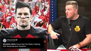 Pat McAfee Reacts To Tom Brady Signing With The Buccaneers Reports