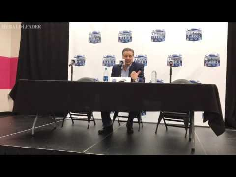 Kentucky coach John Calipari talks about win over North Carolina