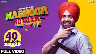 Mashoor Ho Giya Jordan Sandhu Free MP3 Song Download 320 Kbps