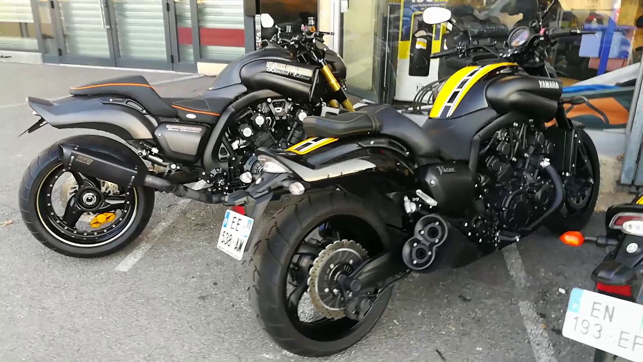 2018 Yamaha Vmax 1700 Total Black studio +details & action