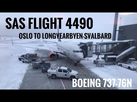 SAS Flight :  Oslo to Longyearbyen:Svalbard  (SK4490)