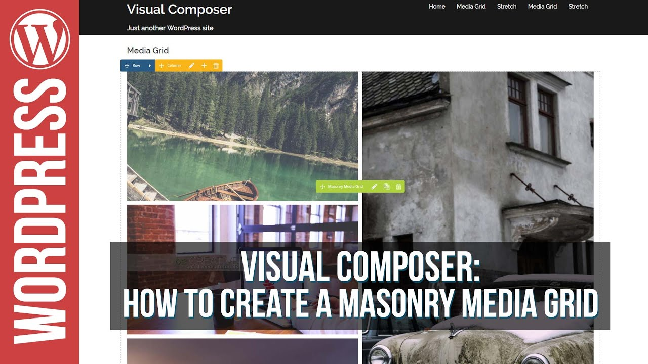Visual Composer Masonry Grid Element Builder Tutorial - YouTube