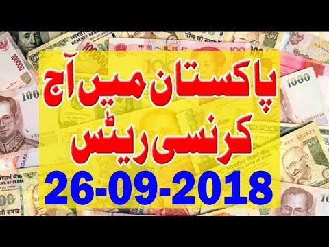 Open Market Currency Rates in Pakistan 26-09-2018   Saudi Riyal   Us Dollar   AED Dirham