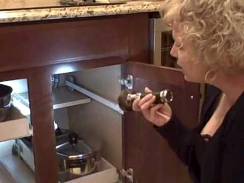 How To Install Sliding Shelves - Half Shelf Install wmv.wmv - YouTube
