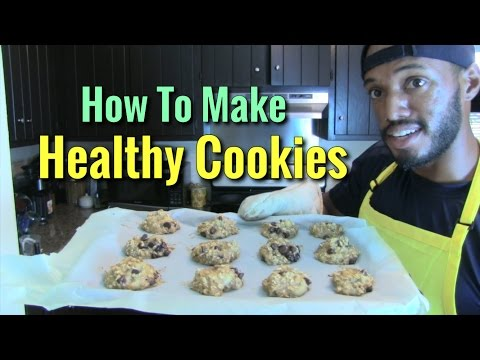 Healthy Recipes - Delicious Banana Applesauce Chocolate Chip Cookies