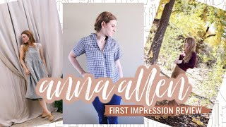 Anna Allen Clothing and Patterns  |  First Impression