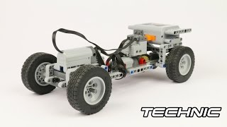 Lego Technic RC simple chassis w/ Instructions