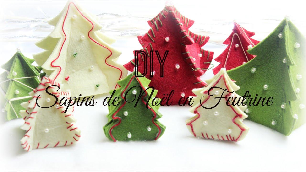 Bevorzugt D.I.Y de Noël #2 ] : Sapins de Noël en Feutrine ❆ - YouTube VX33