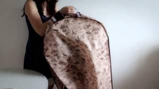 Чехол для одежды объемный двойной удлиненный