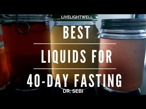What To Drink On A 40 Day Liquid Fast Dr Sebi Fast Day 29 Youtube
