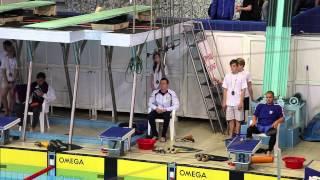 Чемпионат России по плаванию в ластах 2014. 100 метров подводное плавание (женщины, мужчины)
