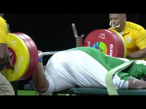 Powerlifting | ORJI Josephine breaks the world record | Women's +86kg | Rio 2016 Paralympic Games