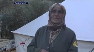 معاناة النازحين من جبل التركمان جراء الغارات الروسية