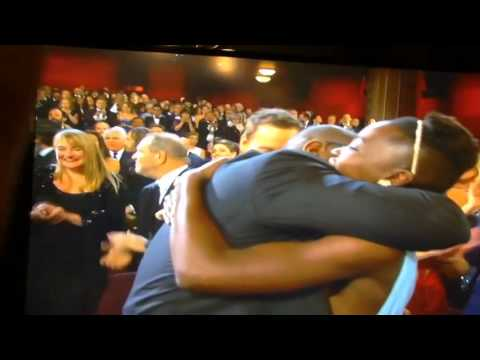 Oscar Winner **12 Years a Slave** - *Best Picture 2014!* Steve McQueen Director jumps for joy!