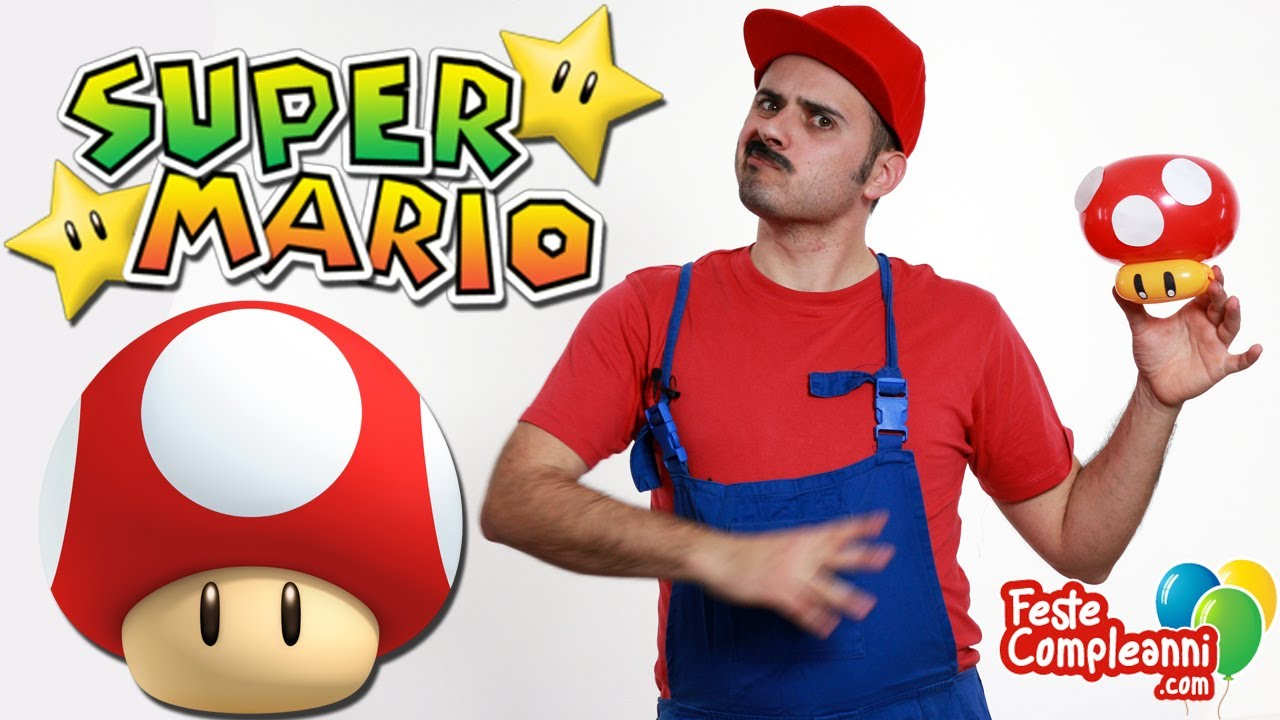 Palloncino Fungo Super Mario - Balloon Super Mario Mushroom - Tutorial 76 -  Feste Compleanni - YouTube 2b99497a2a6a