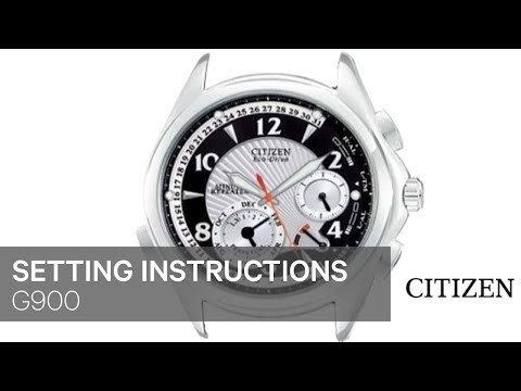 official citizen g900 setting instruction youtube rh youtube com Citizens Watches Repeater Citizen Calibre 9000 Movement