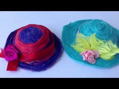 Ролик Как сделать шляпку для кукол Барби и Monster High