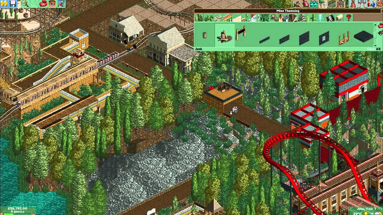 Let's Play Roller Coaster Tycoon 2 - Episode 4 Powered Mine Train & Texas  Tubs