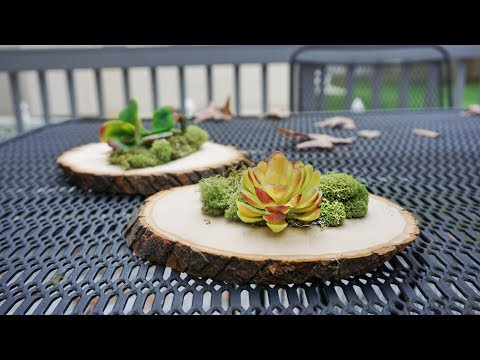 How-To Rustic Wood Centerpieces