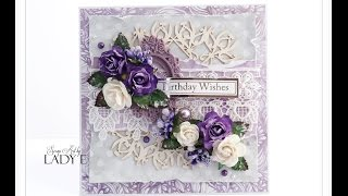 birthday card tutorial wild orchid crafts