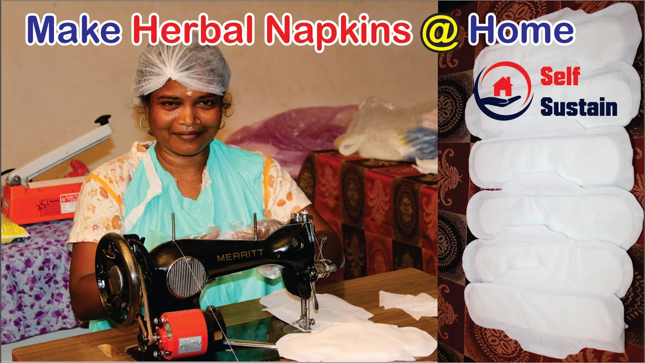 Download #Napkin Make Herbal Napkins @ Home    Self Sustain    Step by Step process to make Napkins in home