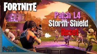 Fortnite: Patch 1.4 Storm Shield Réinitialise