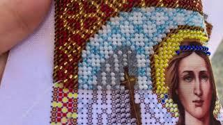 Вышивка бисером: отчёт N1 по вышивке иконы Ангел Хранитель от фирмы Благовест