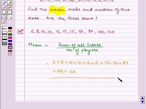 Calculate Mean, Median and Mode_Maths_Class-7