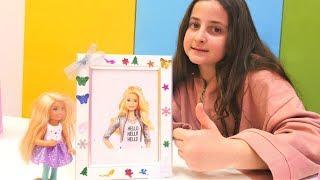 Barbie için çerçeve ve taç süsleyelim. El yapımı hediyeler.