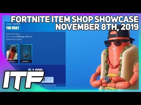 Fortnite Item Shop *NEW* THE BRAT SKIN! [November 8th, 2019] (Fortnite Battle Royale)