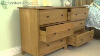 Cairo Solid Oak Wide 6 Drawer Chest From Oak Furniture Land