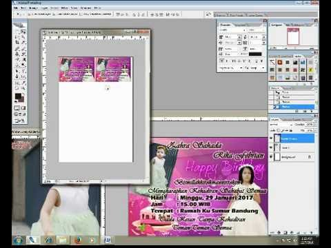 Cara Membuat Surat Undangan Ulang Tahun Sederhana Dengan Photoshop