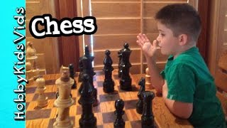 HobbyPig Plays GIANT CHESS Game! Who Wins? HobbyDad by HobbyKidsVids