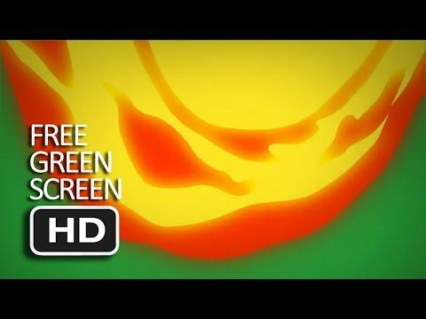 Free Green Screen - Cartoon Fire Transition 2