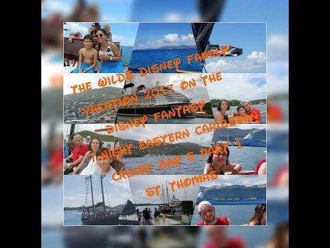 Disney Fantasy Eastern Caribbean cruise 2017 Vacation:Day 5 at St.Thomas part 1