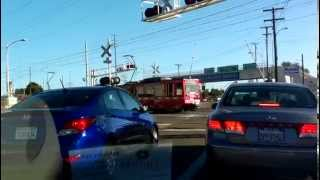 San Diego Metro Train Crossing at General Dynamics