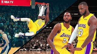 How Would It Look: LeBron James & Kawhi Leonard Lakers vs Warriors - NBA 2K18 Gameplay