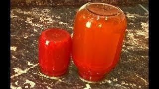 Томатный сок как в детстве!  Густая домашняя томатная паста. Томат на зиму заготовки из помидоров